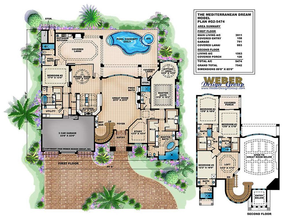 Mediterranean Dream Home Plan Italian Mediterranean Home Floor Plan Mediterranean Style House Plans House Plans With Photos Mediterranean House Plans