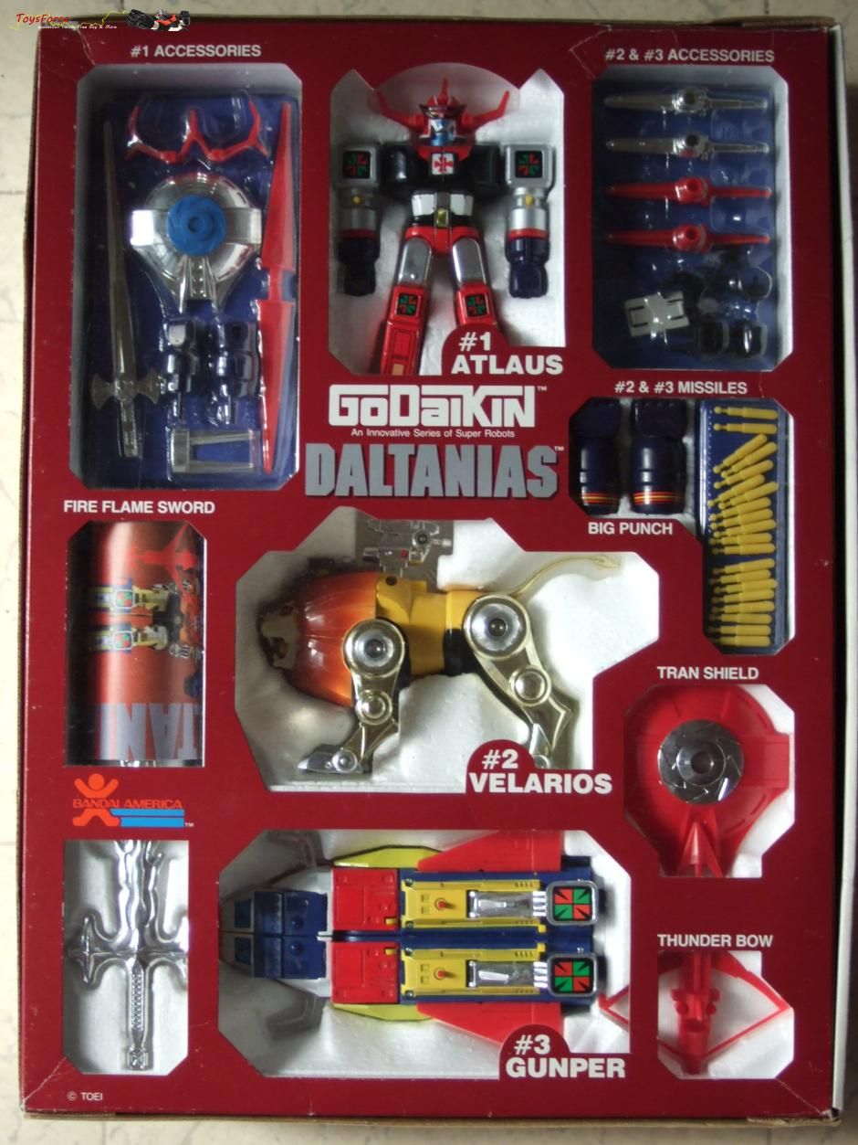 For sell  Daltanias Godaikin -Bandai America-  Great condition! C10 for collectors  I ship from Japan  Contact me for further information