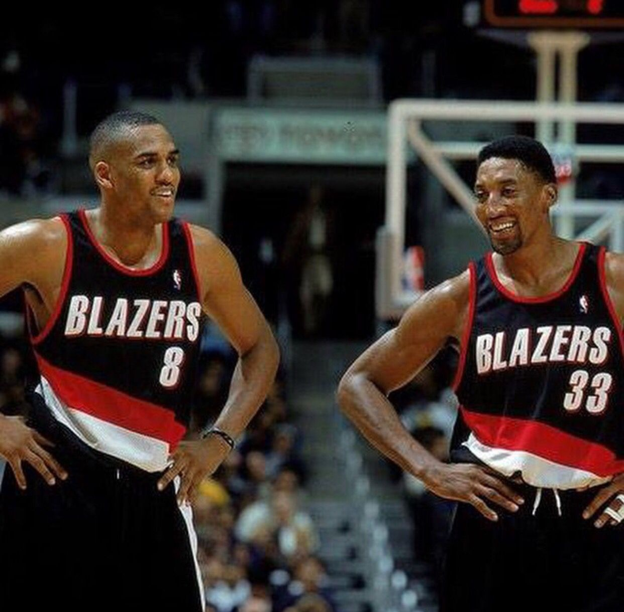 differently f4b44 14a46 Steve Smith + Scottie Pippen   basketball   Portland ...