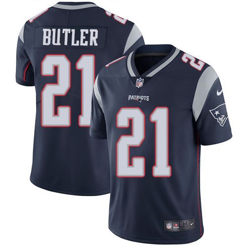nfl jerseys best selling Nike Patriots #21 Malcolm Butler Navy ...