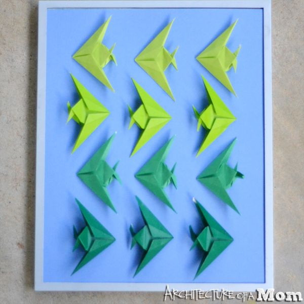 Architecture Of A Mom Ombre Origami Fish Art Crafting Origami