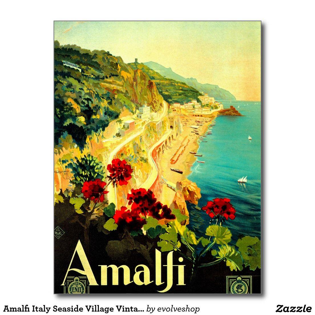 Amalfi Italy Seaside Village Vintage 1939 Postcard | Amalfi italy ...