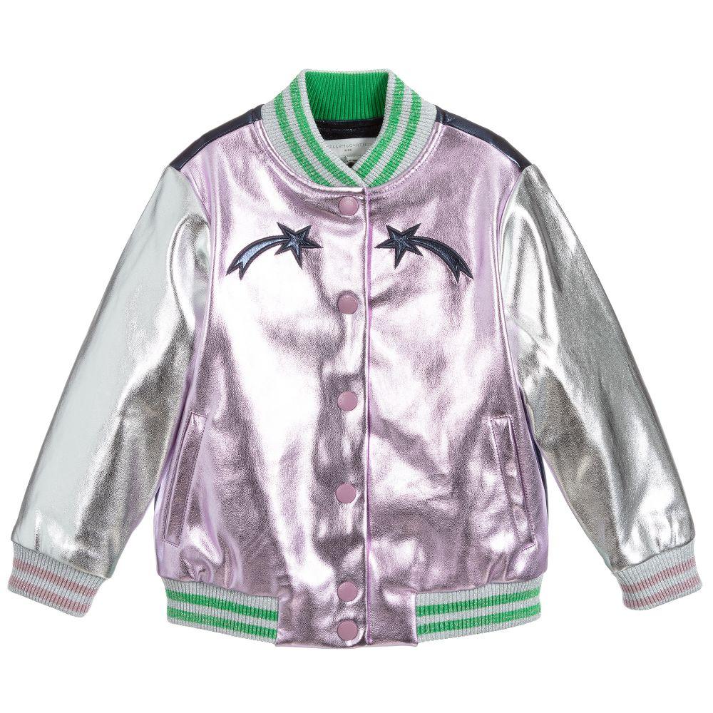 Stella McCartney Kids Purple Faux Leather Jacket