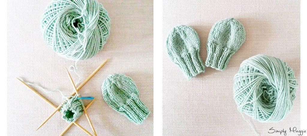 Knit Baby Mittens - Free Beginner Pattern | SimplyMaggie.com ...