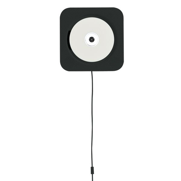 Wall Mounted CD Player With Radio And Remote Control / Black // Muji ///  Mmm Me Want!