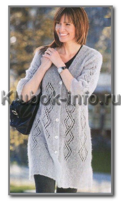 Вяжем кардиган спицами для женщин размер 50-52