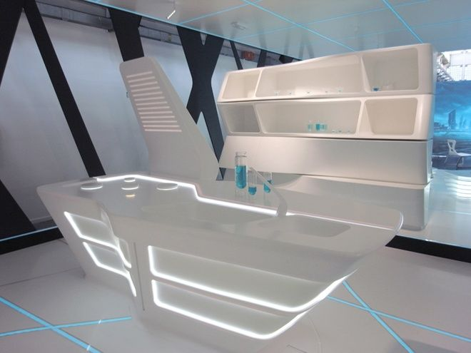 Exhibition Stand Futuristic : Tron designs corian exhibition exhibitions and