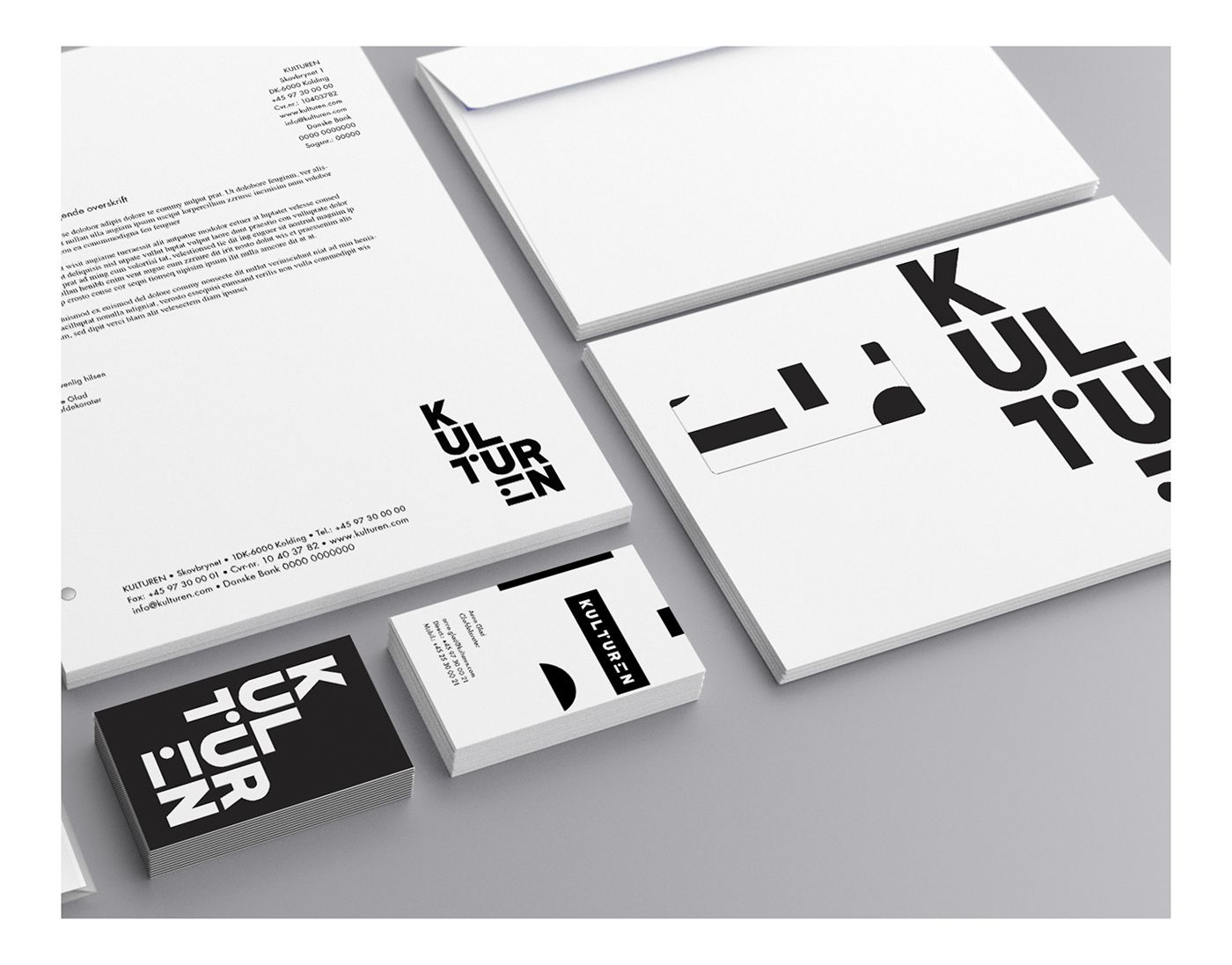 Brand Identity for a Danish theatre and concert hall based in Kolding called KULTUREN.