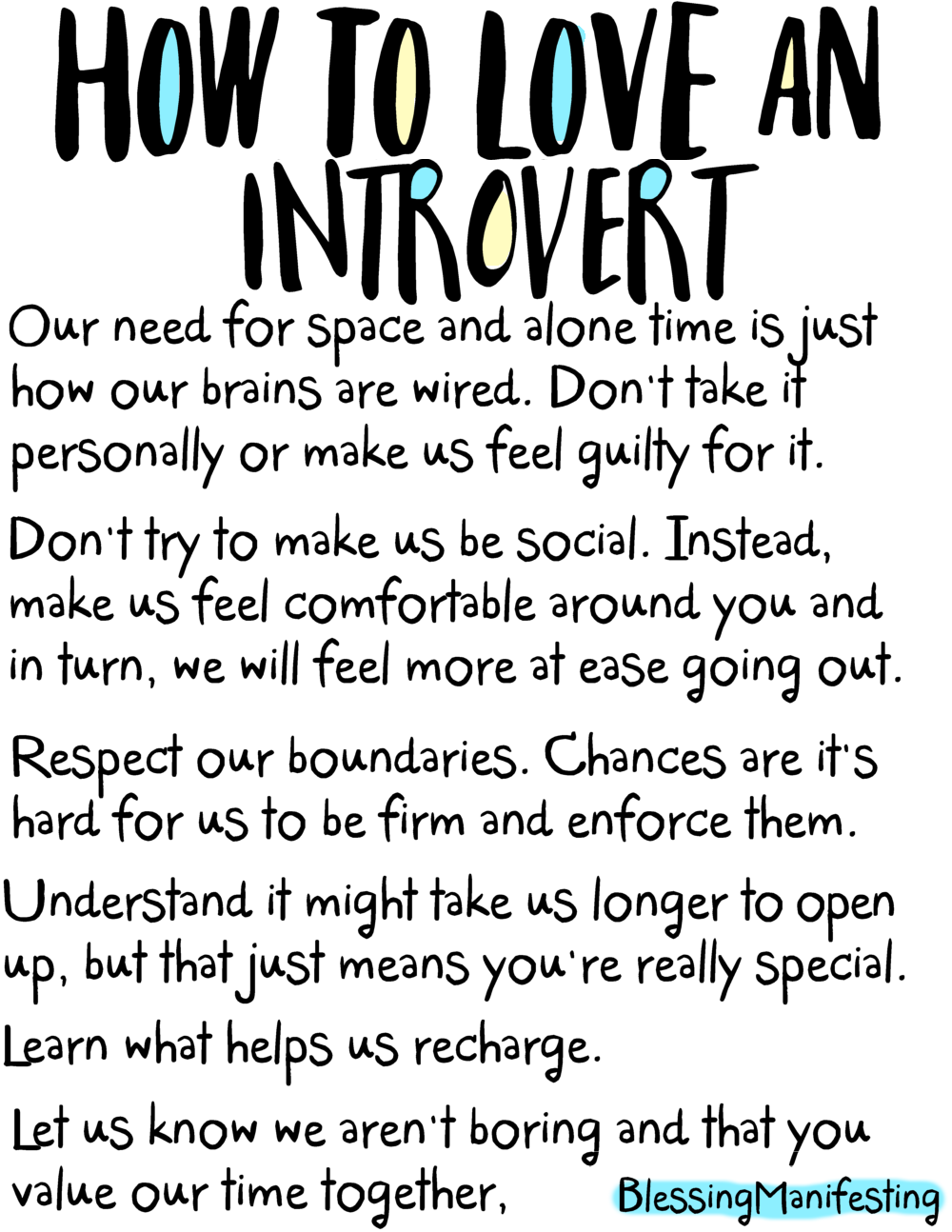 5 Self-Love Languages | Blog | Blessing Manifesting | Introvert
