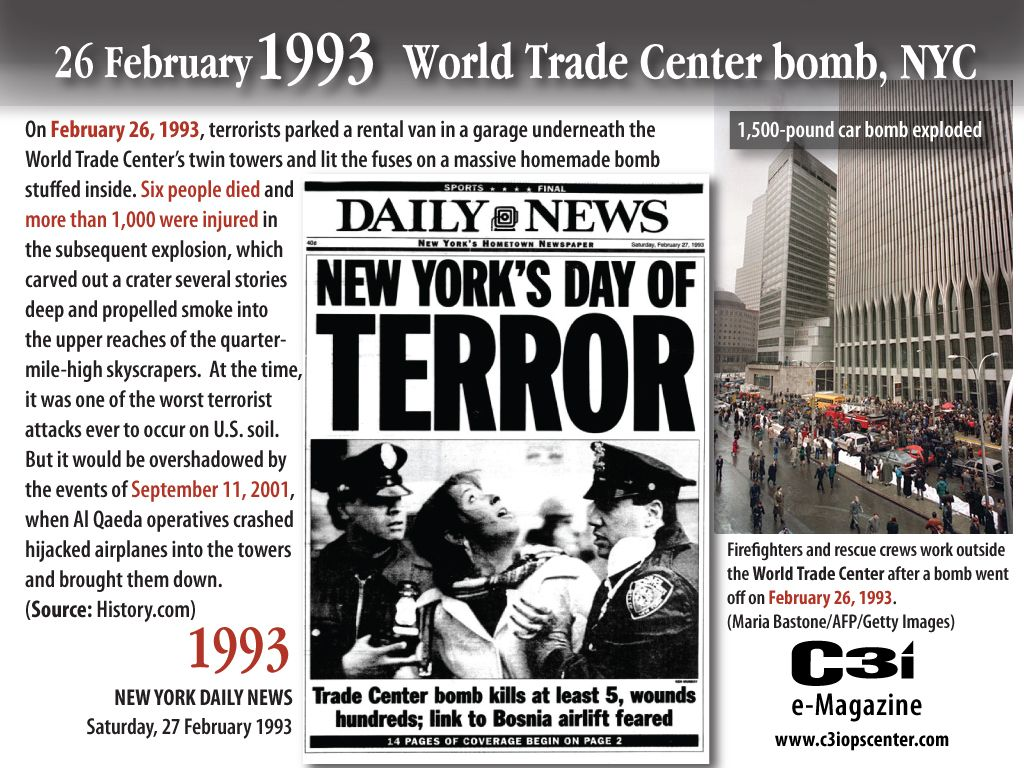 bombing of world trade center in manhatten 1993