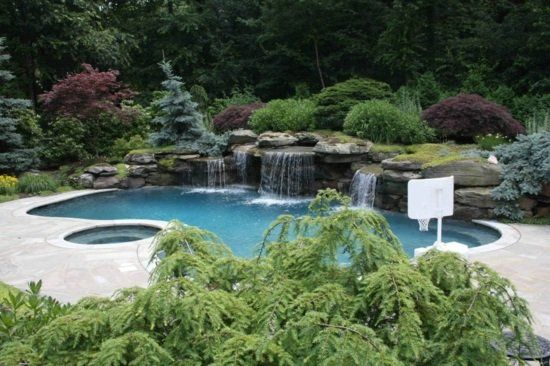 le jardin avec bassin aquatique 99 ides de dcoration - Photo De Bassin De Jardin Avec Cascade