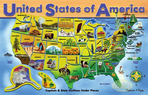 USA Map Puzzle by Melissa Doug by Melissa Doug Read This
