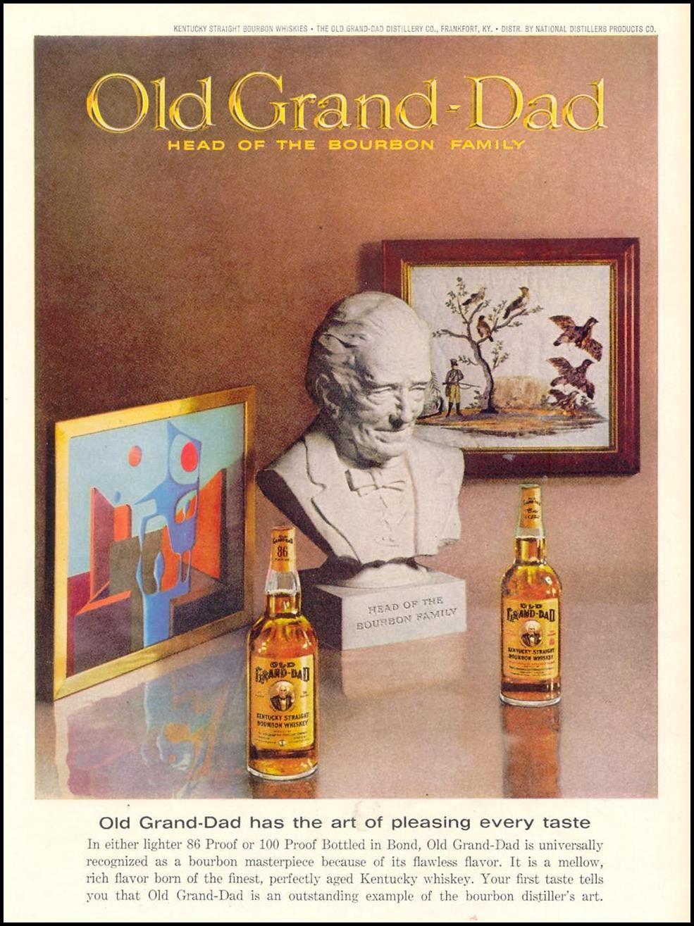Old Grand Dad Bourbon Whiskey Ad