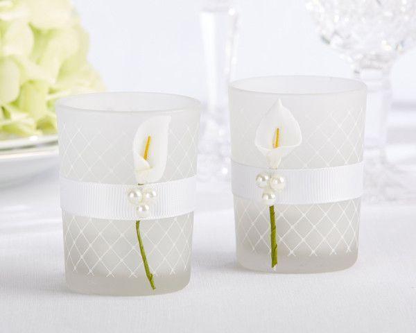 Lovely Lily Calla Tealight Holder Set Of 4 Wedding Centerpieces Pinterest Lilies Bat Mitzvah And