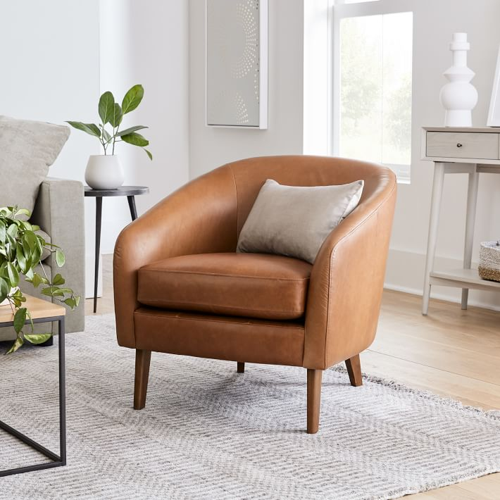 Jonah Leather Chair In 2020 Brown Leather Chairs Leather Chair