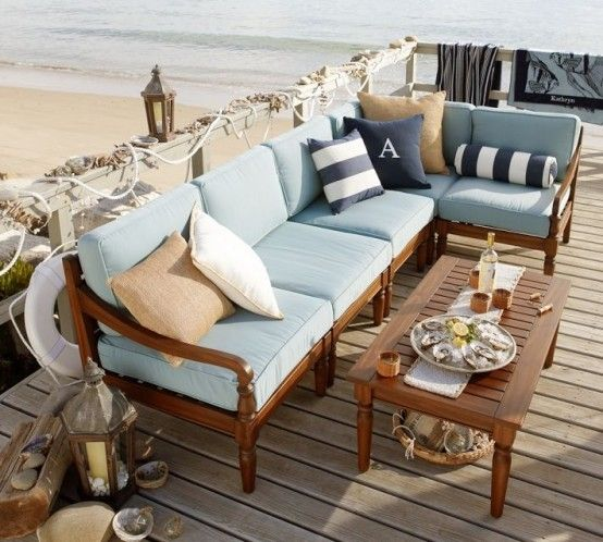 39 Cool Sea And Beach Inspired Patios   DigsDigs   Focus On The Rope/