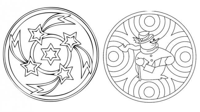 Mandalas D Hiver On Pinterest Mandala Coloring Pages