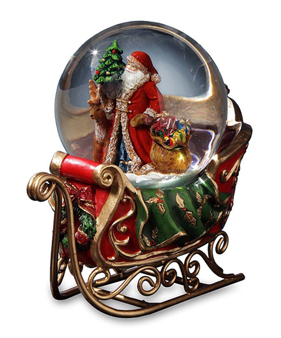 Take a look at this Santa's Sleigh Musical Water Globe