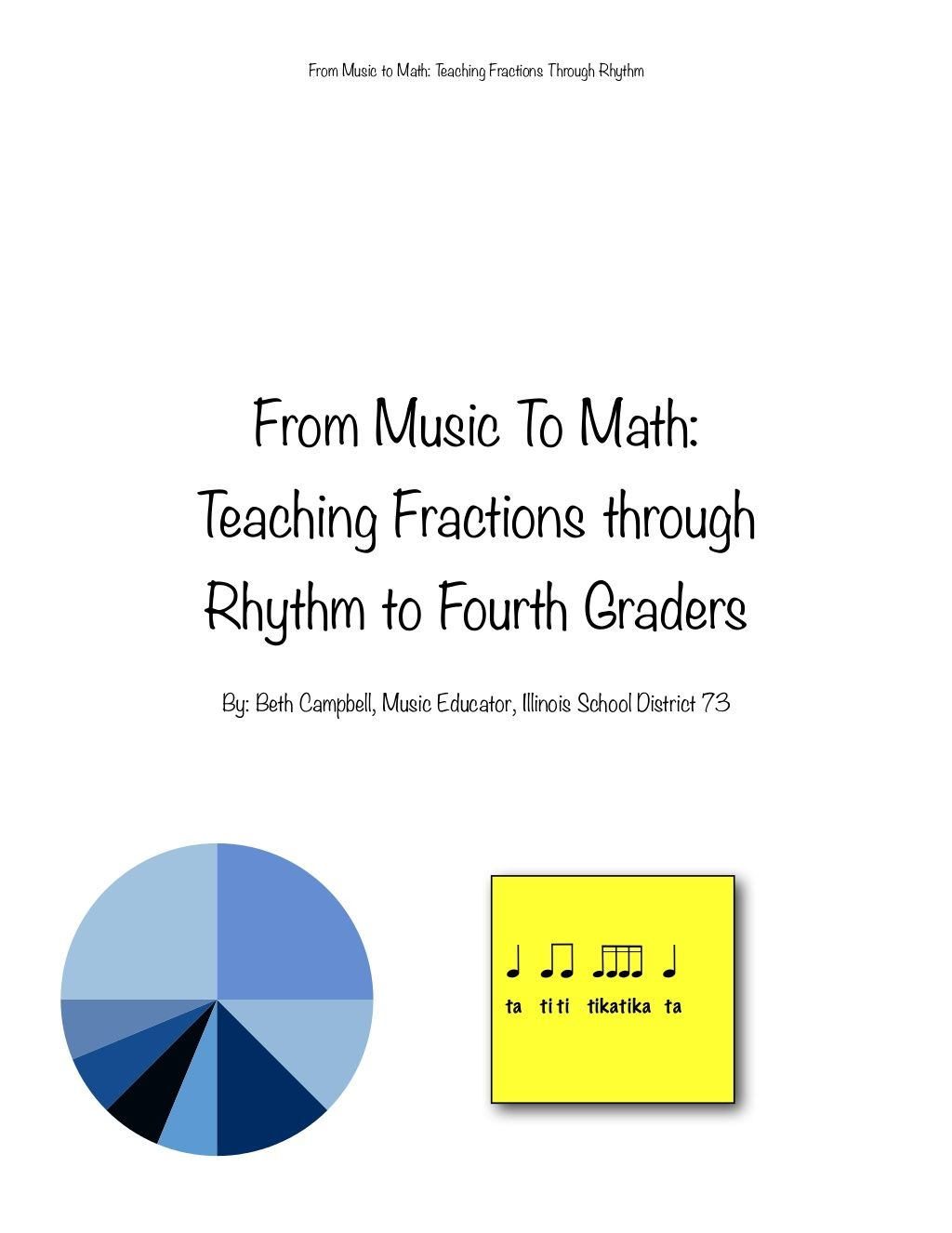 From Music To Math Teaching Fractions Through Rhythm To
