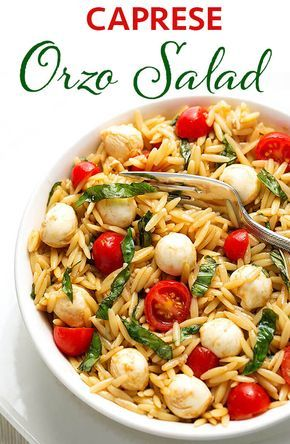 Caprese Orzo Salad | Simply Happy Foodie
