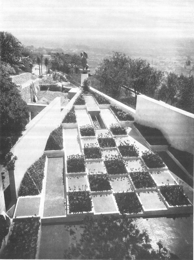 The Cubist Garden Of Villa Noailles In Hyeres France By Gabriel