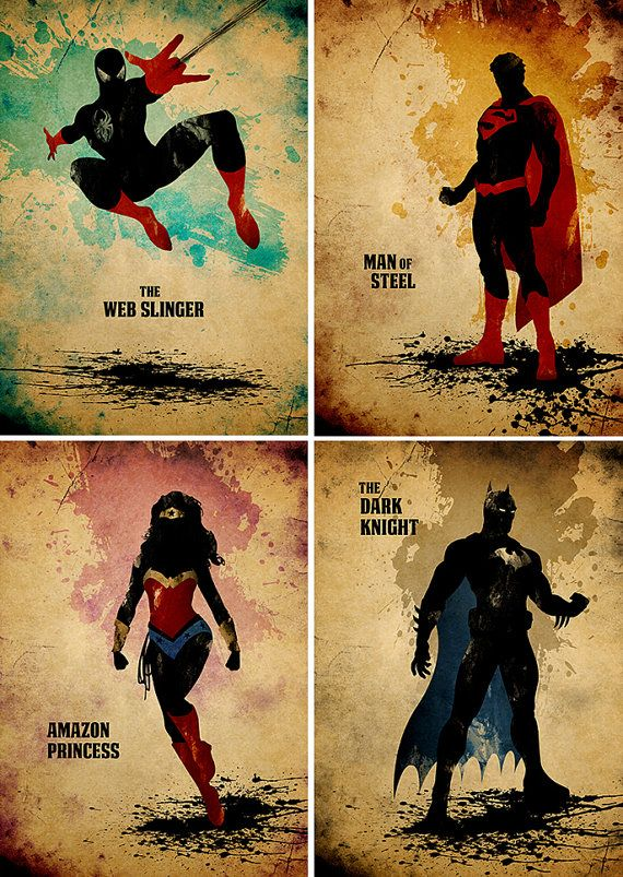 all time best superheroes minimalist movie poster by