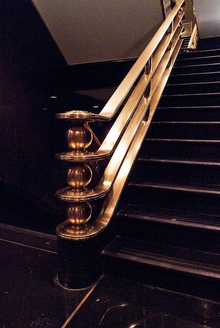 Art Deco stairway in 2020 | Stair railing design, Art deco ...