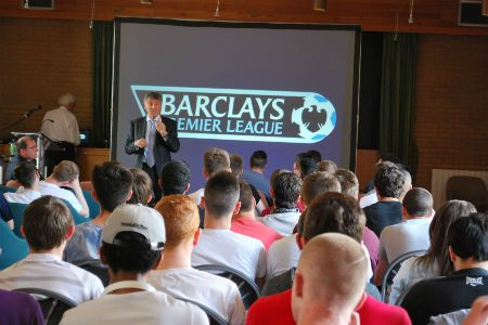 David Dein visits Nescot to speak to Sports students about his career