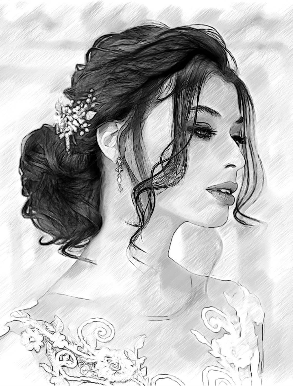 Akvis sketch converts photos into pencil sketches you can evaluate the software during the 10 day trial period akvis akvissketch beautifulbride bride
