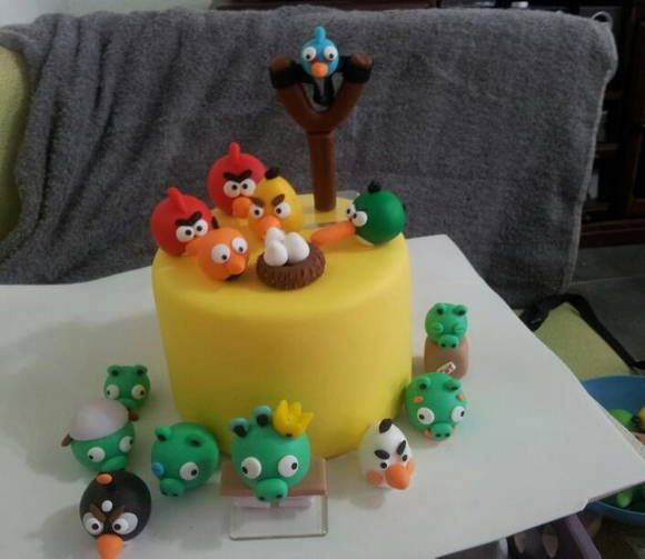 Kit topo de bolo Angry Birds Angry birds and Bird