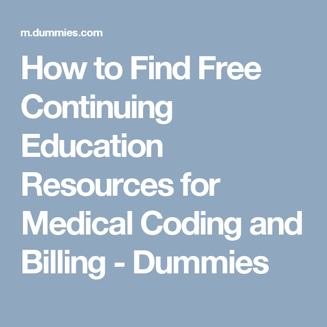 How To Find Free Continuing Education Resources For Medical Coding