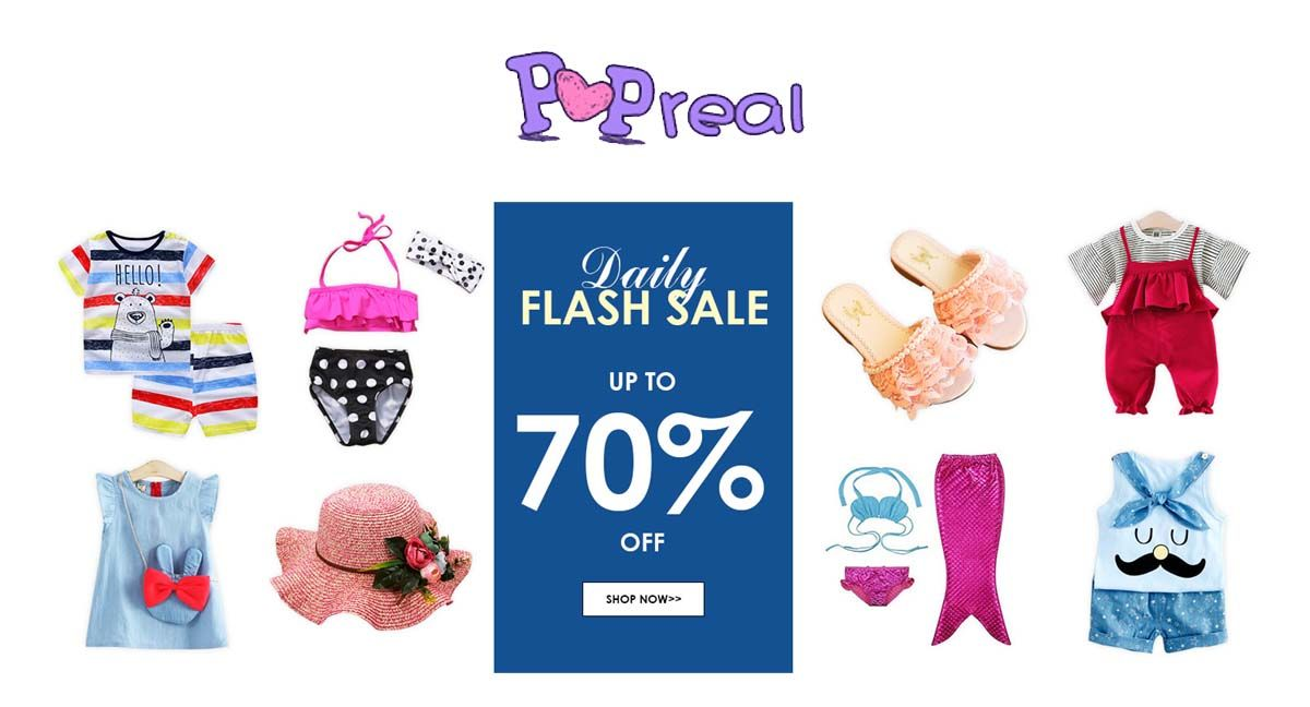 Flash Sale Up to 70% Off at #PopReal #Kids #Baby #Clothing ...