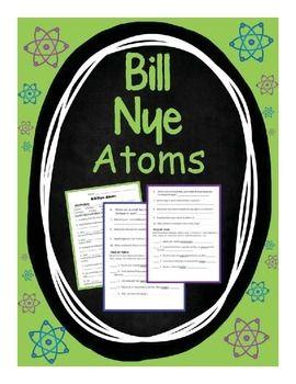 Bill Nye Atoms Middle School Freebies Pinterest Science
