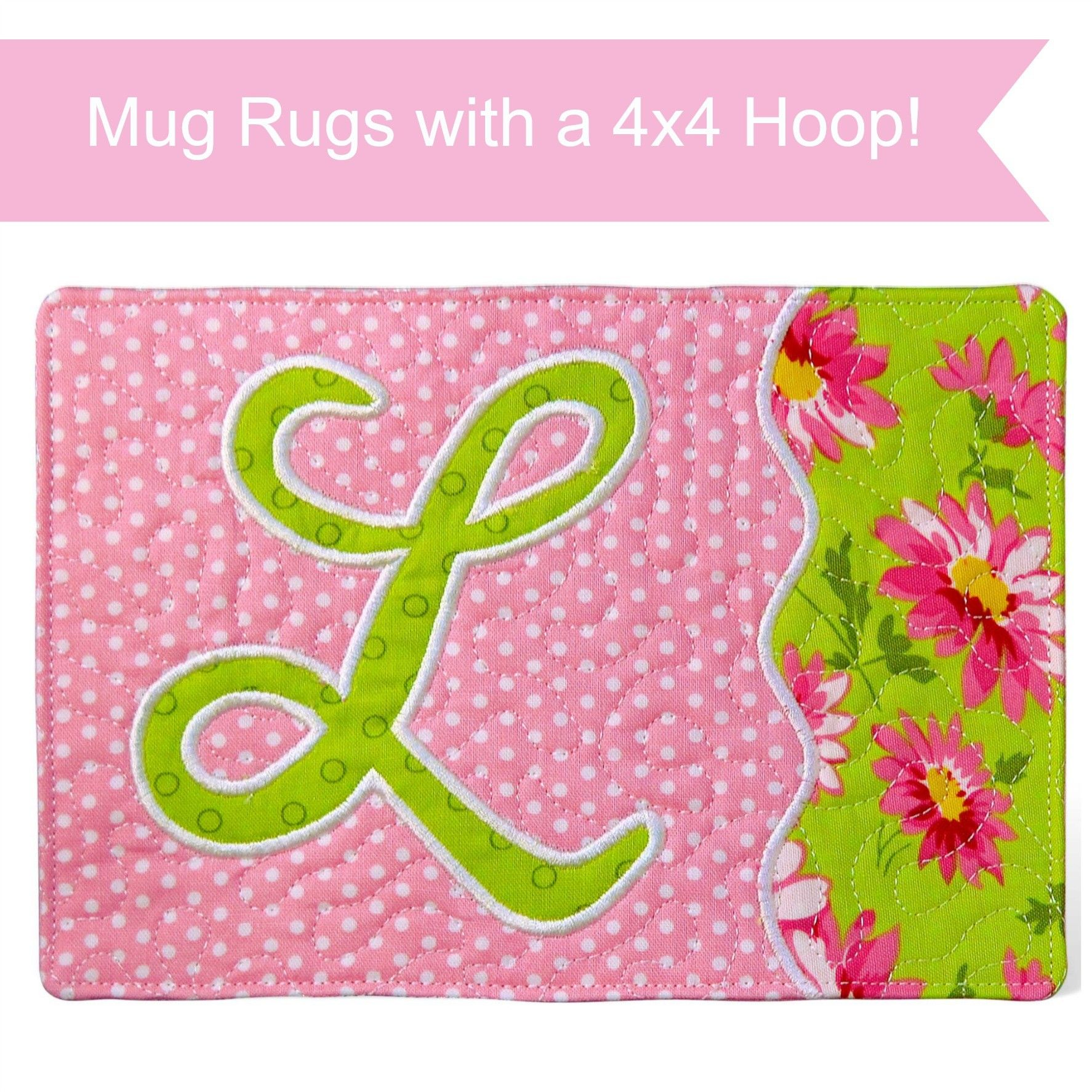 Monogrammed Mug Rugs for 4x4 Hoops! Don't feel limited by your small  embroidery