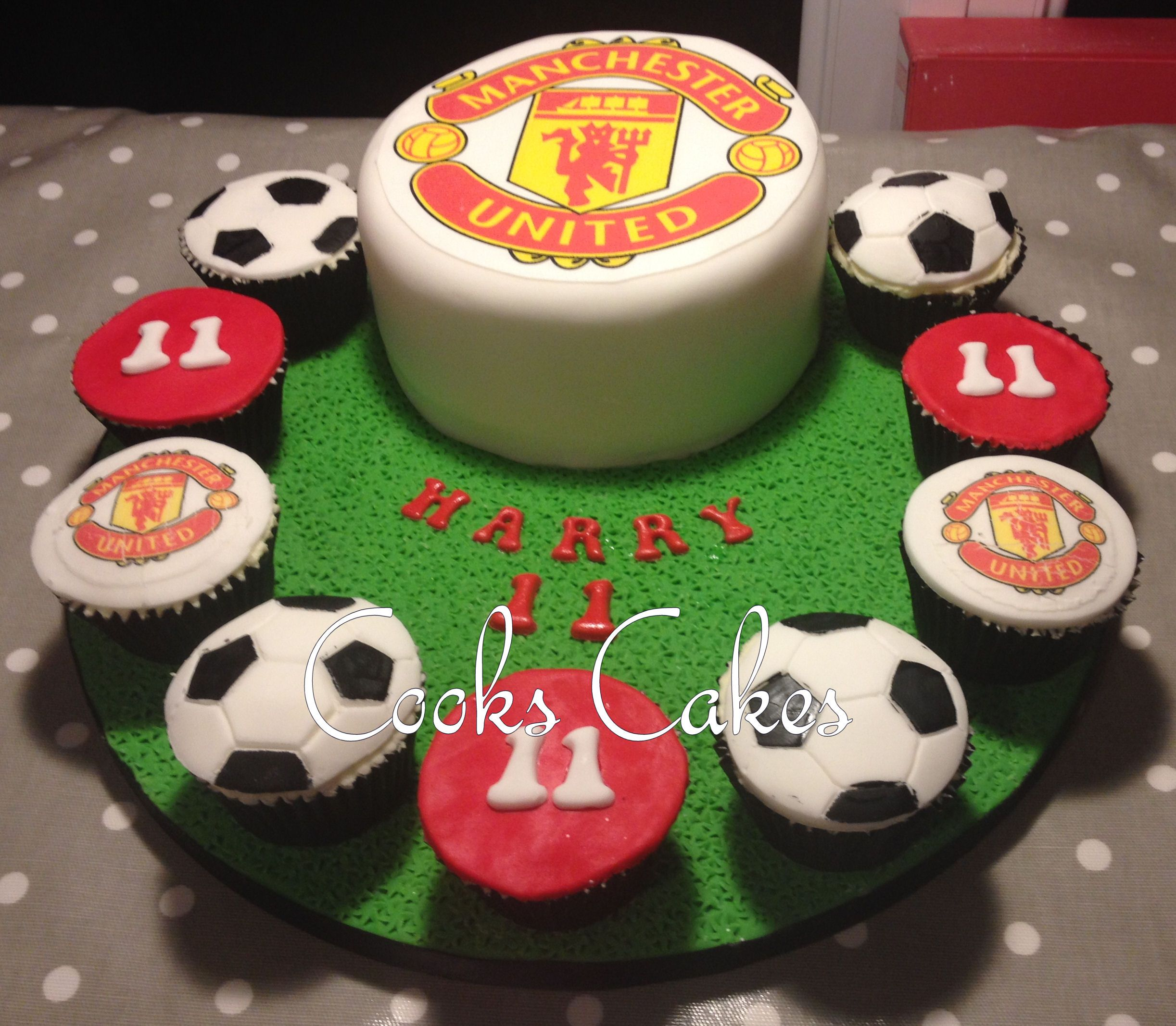 Pin By Halle Coretti On Cook S Cakes Football Cake Manchester United Cake Cake