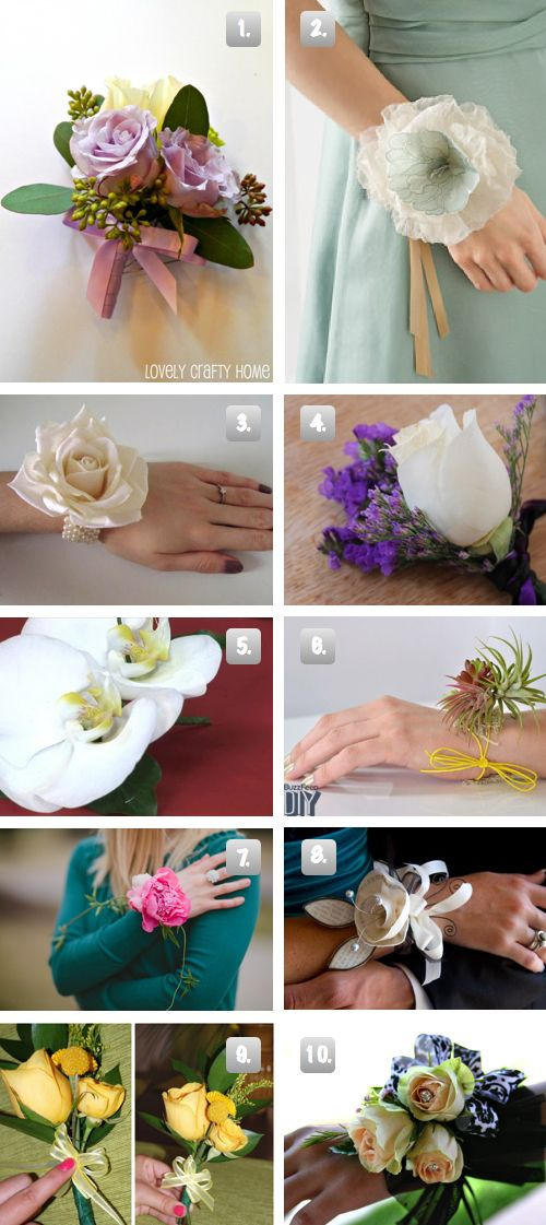 10 Diy Prom Or Wedding Corsages The Frugal Female Diy Corsage Diy Wedding Corsage Wedding