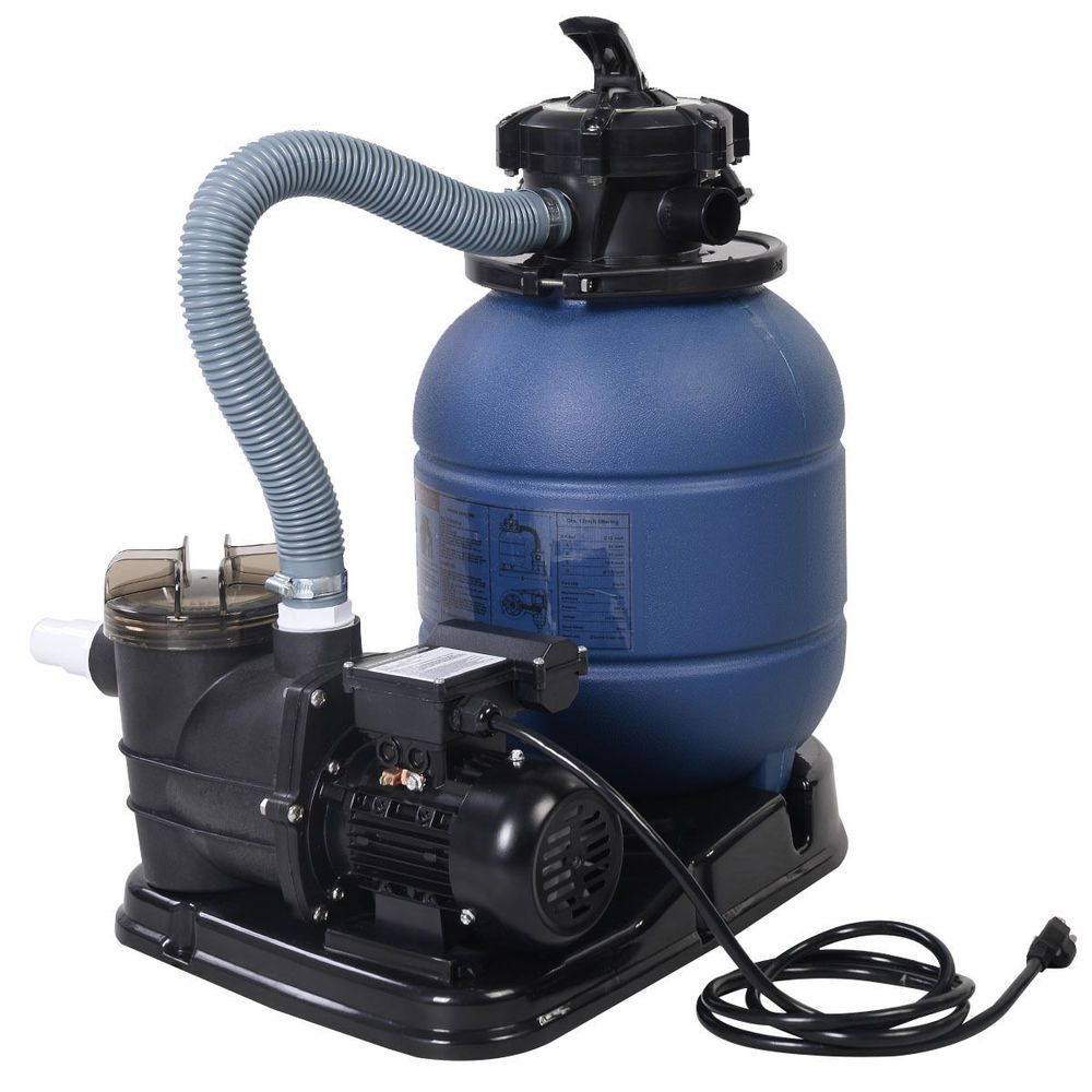 "New 2400GPH 13"" Sand Filter Above Ground Swimming Pool"