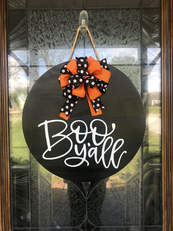 Front Door Decor, Halloween Door Hanger, Halloween Sign