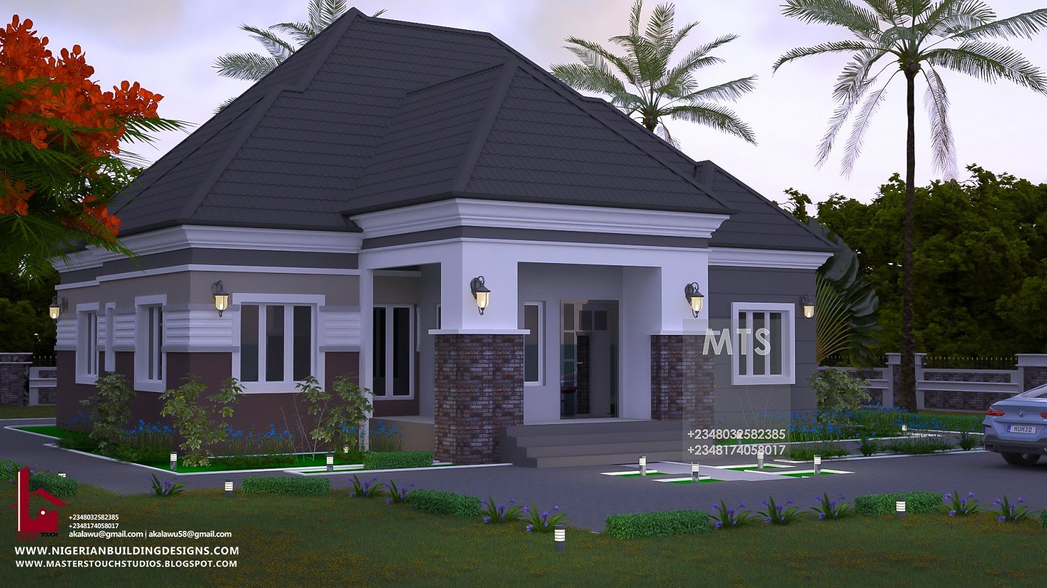 4 Bedroom Bungalow Rf 4022 Modern Bungalow House Plans Beautiful House Plans Modern Bungalow House Design