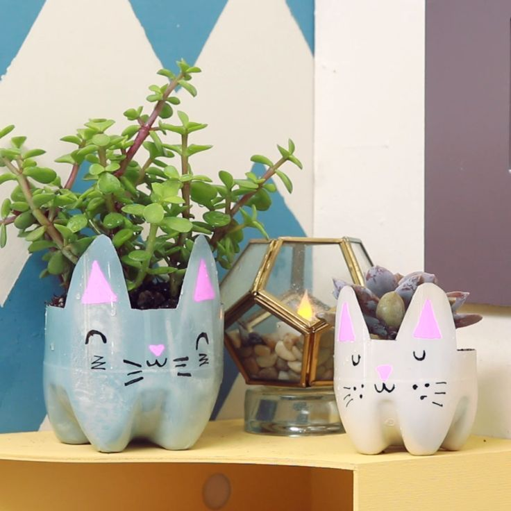 DIY Cat Planters DIY Cat Planters