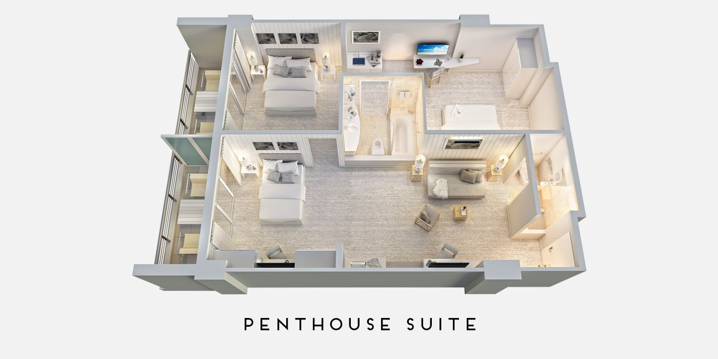 2 Bedroom Suite Hotel South Beach Miami In 2020 2 Bedroom Suites Bedroom Hotel South Beach Hotels