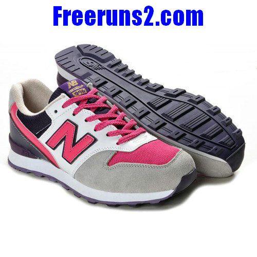 efa48f9a2f6c New Balance WR996 Gris Rose rouge blanc Chaussures Femmes