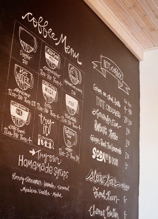 Coffee Menu Jos Mount Pleasant Texas Chalk Art Pinterest