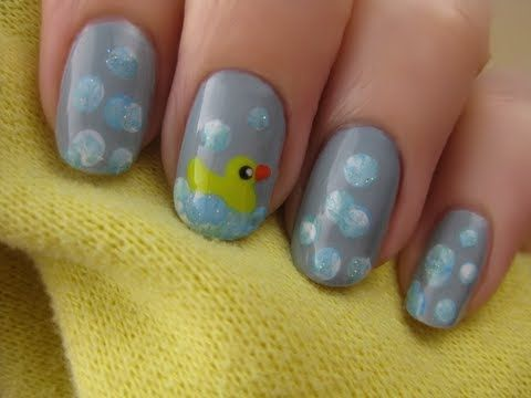 Rubber Duck Nails. very cute. Watch the video to see how to make the - Rubber Duck Nails. Very Cute. Watch The Video To See How To Make The