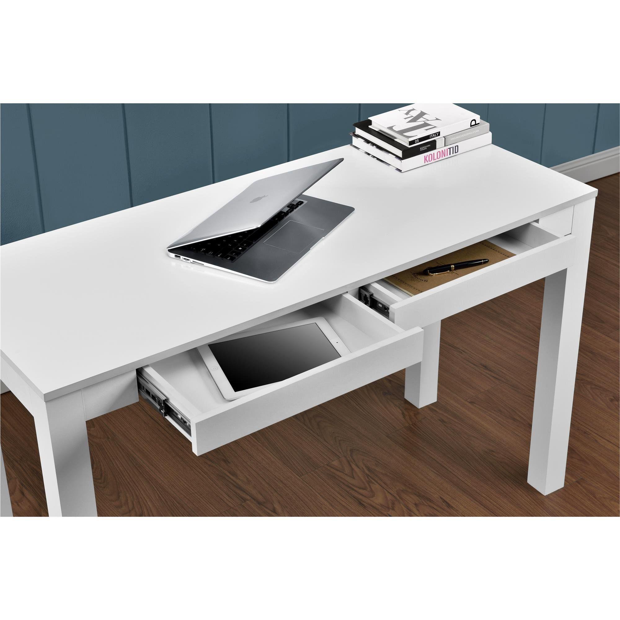 salma writing desk home desk parsons desk white desks. Black Bedroom Furniture Sets. Home Design Ideas