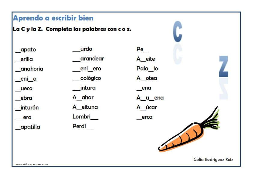 Ejercicios Ortografía Primaria Ortografia Ejercicios Actividades De Ortografía Palabras De Ortografía
