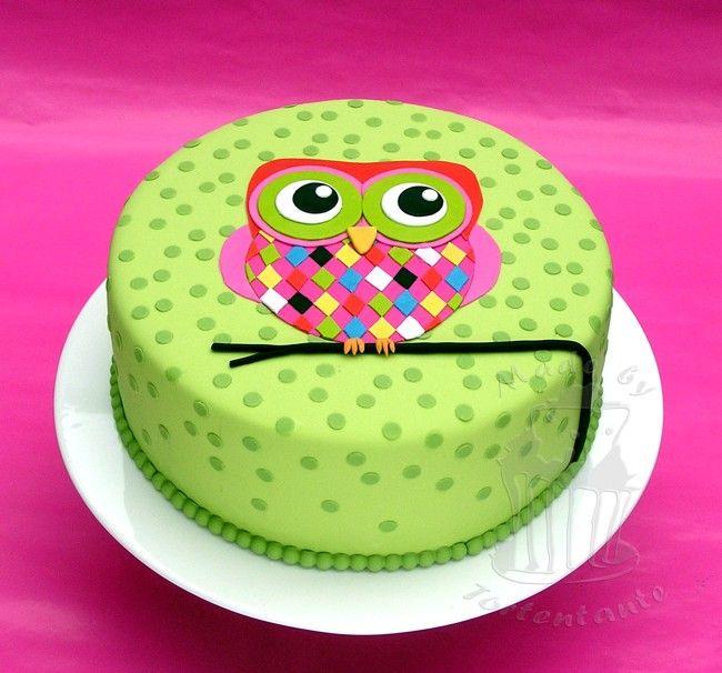 Eulentorte Owl Cake Fondant Motivtorte Sweet Dreams Cake Owl