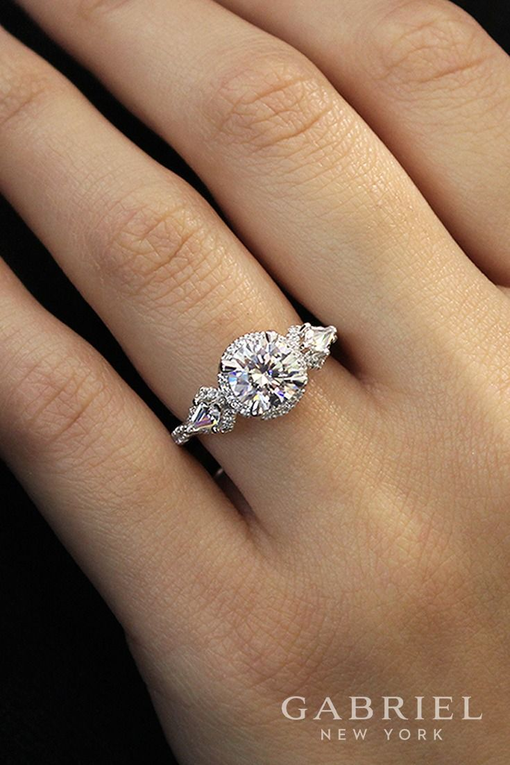 18k White Rose Gold Diamond Engagement Ring Er12870r6t83jj
