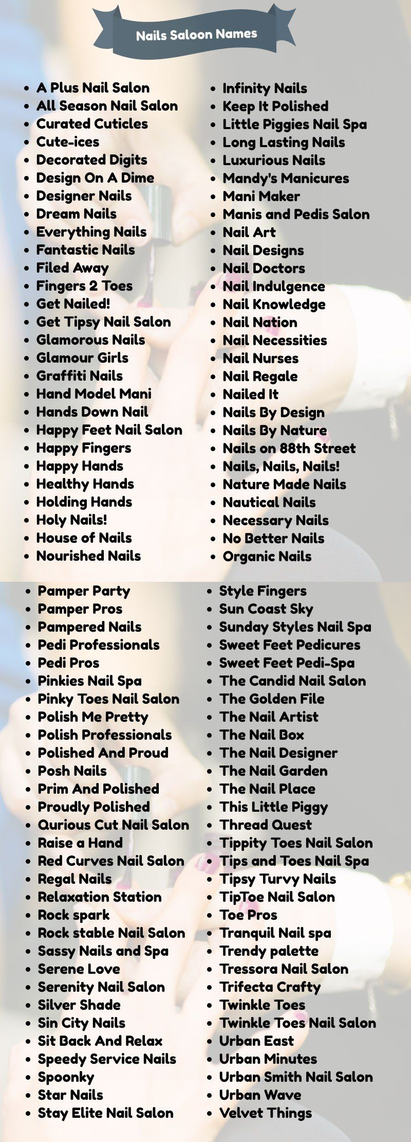 20+ Classy Nail Salon Names for Your Business in 20  Nail