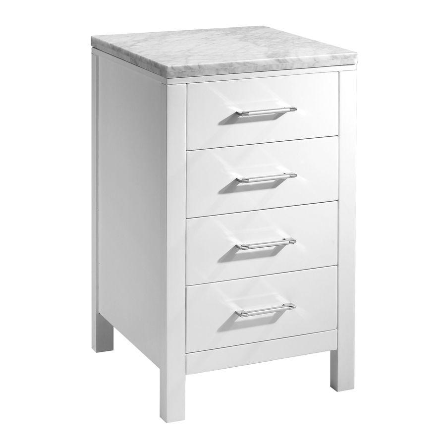 Elegant Virtu Usa Caroline Parkway 20 In W X 21.9 In D X 33.5 In H White Oak  Freestanding Linen Cabinet Mdc 2120 Wh
